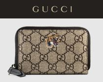GUCCI Other Animal Patterns Leather Handmade Card Holders