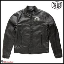 Deus Ex Machina Plain Leather Biker Jackets