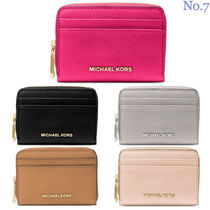 Michael Kors Unisex Street Style Plain Leather Coin Purses