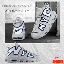 Nike AIR MORE UPTEMPO Street Style Oversized Sneakers