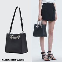 Alexander Wang Casual Style Street Style 2WAY Plain Leather Handbags
