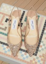 Jimmy Choo Casual Style Blended Fabrics Plain Leather Chunky Heels