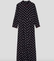 ZARA Dots Casual Style Long Sleeves Long Dresses
