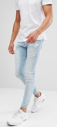 Plain Cotton Logo Skinny Jeans
