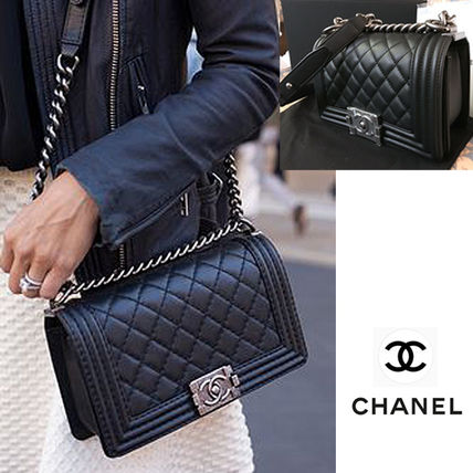 18SS Boy CHANEL Black Small Calfskin 2way Shoulder Handbag