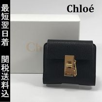 Chloe Drew Calfskin Plain Folding Wallets