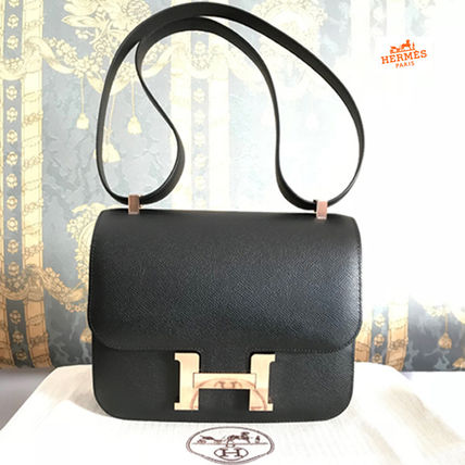 Hermes Shoulder Bags 18ss Constance Iii 24 Black Rose Gold Epsom Bag