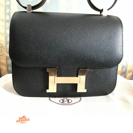 ... HERMES Shoulder Bags 18SS Constance III 24 Black / Rose Gold Epsom Shoulder Bag 11 ...