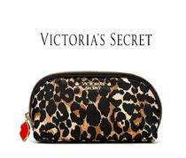 Victoria's secret Leopard Patterns Nylon Studded Pouches & Cosmetic Bags