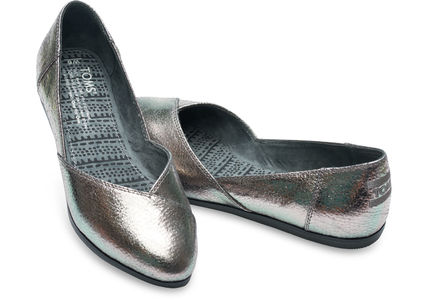 Plain Leather Slippers Slip-On Shoes