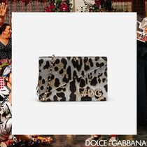 Dolce & Gabbana Leopard Patterns Chain Party Style Clutches
