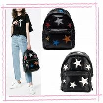 Stella McCartney FALABELLA Flower Patterns Casual Style Faux Fur Plain Backpacks