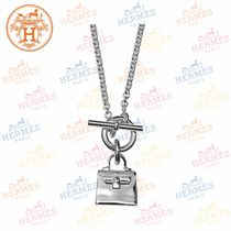 HERMES 18AW KELLY Amulet Silver Pendant / Necklace