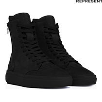REPRESENT Street Style Plain Leather Handmade Engineer Boots