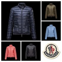 MONCLER LANS Short Plain Khaki Down Jackets
