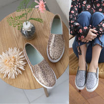 Leopard Patterns Round Toe Rubber Sole Casual Style Faux Fur