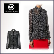 Michael Kors Star Long Sleeves Medium Elegant Style Shirts & Blouses