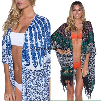 Paisley Fringes Beach Cover-Ups