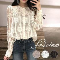 Flower Patterns Long Sleeves Medium Lace Elegant Style