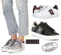 Steve Madden Star Round Toe Casual Style Street Style Leather