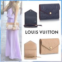 Louis Vuitton MONOGRAM EMPREINTE Monogram Blended Fabrics Bi-color Leather Small Wallet