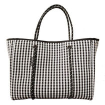willow bay Gingham Casual Style Unisex Nylon Bag in Bag A4 Totes