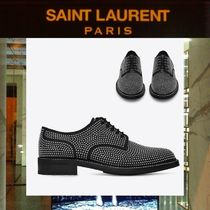 Saint Laurent Studded Leather Oxfords