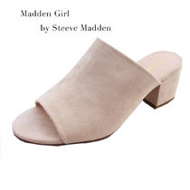 Madden Girl Open Toe Plain Block Heels PVC Clothing Heeled Sandals
