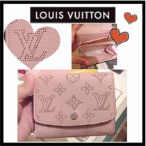 Louis Vuitton MAHINA Monogram Calfskin Plain Folding Wallets