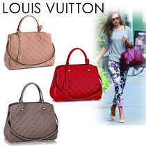 Louis Vuitton MONOGRAM EMPREINTE Monogram Casual Style A4 2WAY Leather Shoulder Bags
