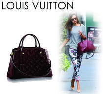 Louis Vuitton MONOGRAM VERNIS Monogram Casual Style A4 2WAY Leather Shoulder Bags
