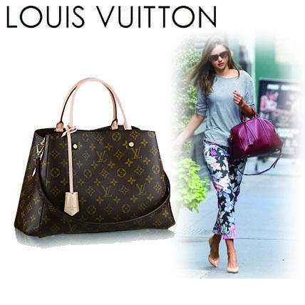 Louis Vuitton Shoulder Bags Monogram Casual Style Canvas A4 2WAY Shoulder Bags