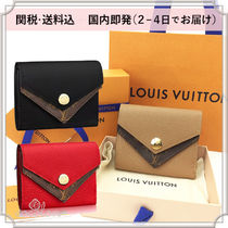 Louis Vuitton 18SS DOUBLE V COMPACT WALLET BI-COLOR CALF-SKIN COIN PURSES