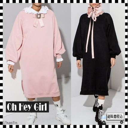 Casual Style Street Style Plain Oversized Puff Sleeves