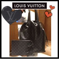 Louis Vuitton MONOGRAM Monogram Unisex Canvas A4 2WAY Totes