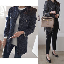 Tweed Medium Elegant Style Jackets