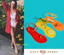 Katy Perry Tropical Patterns Open Toe Casual Style Sandals