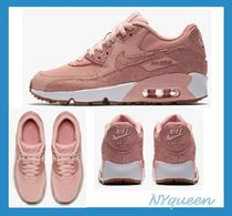 Nike AIR MAX 90 Street Style Plain Leather Low-Top Sneakers