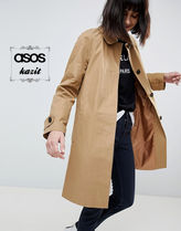 ASOS Stand Collar Coats Casual Style Medium Trench Coats