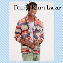 POLO RALPH LAUREN Cable Knit Linen Long Sleeves Tribal Vests & Gillets