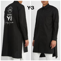 Y-3 Button-down Long Sleeves Plain Cotton Shirts