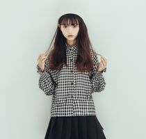Other Check Patterns Casual Style Dolman Sleeves