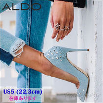 ALDO [ALDO] Studs & Beads Stiletto Denim Pumps [US5 / 22.3cm]