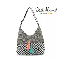 Little Marcel Stripes Other Check Patterns Casual Style A4 Totes