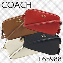 Coach Casual Style Plain Leather Shoulder Bags