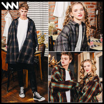 WV PROJECT Glen Patterns Street Style Long Sleeves Cotton Shirts