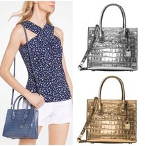 Michael Kors MERCER 2WAY Other Animal Patterns Leather Elegant Style