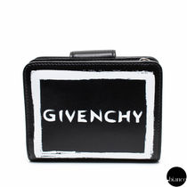 GIVENCHY PANDORA Unisex Calfskin Street Style Bi-color Folding Wallets