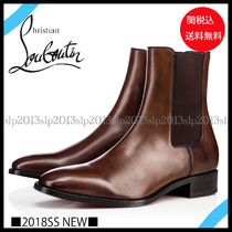Christian Louboutin Blended Fabrics Plain Leather Chelsea Boots Chelsea Boots
