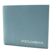 Dolce & Gabbana Plain Leather Folding Wallets